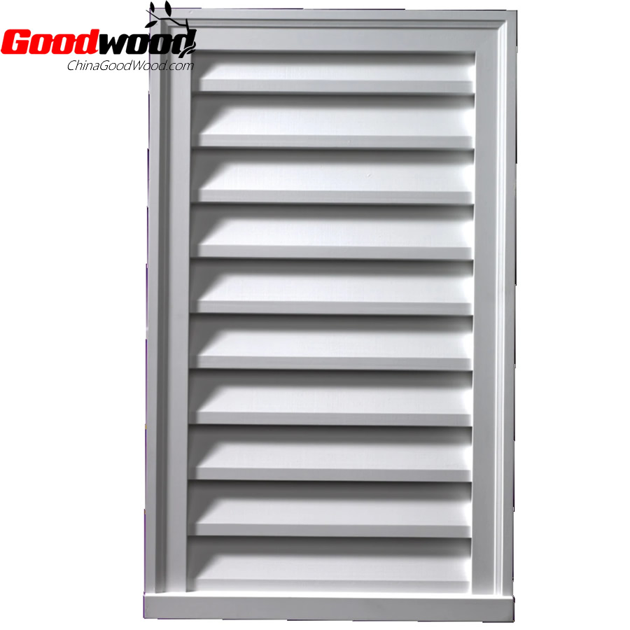 Polyurethane Functional Louver Vertical Brickmould Style
