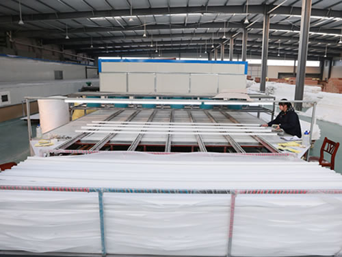 PVC shutter components drying processing
