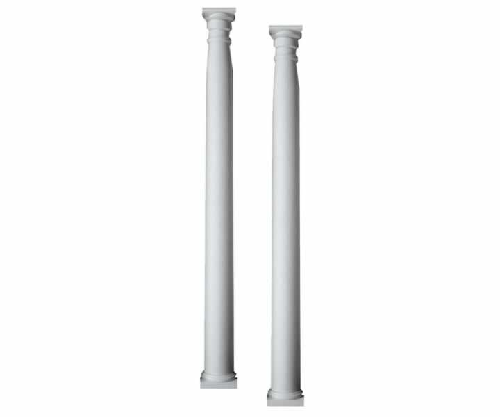 Half-Round Pilaster Decorative Column of Polyurethane