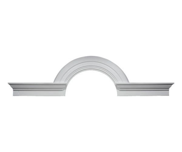 Radius Half-Round Arch With Decorative Flankers of Polyurethane