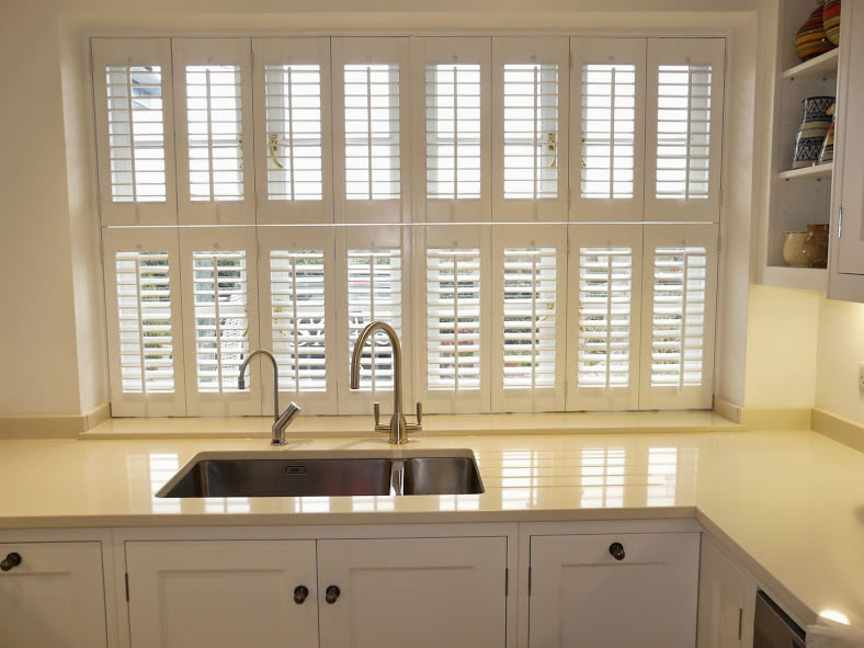 plantation shutters kitchen