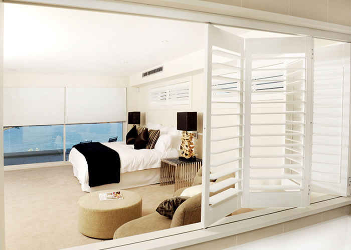 bifold wooden plantation shutters interior