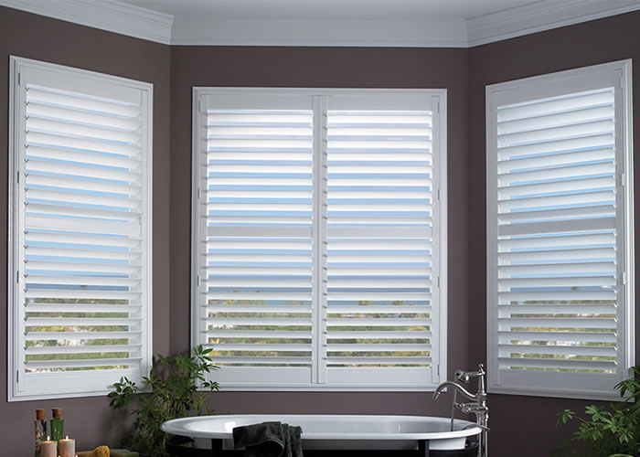 Plantation shutters window shutters interior shutters for Interior window shutter designs