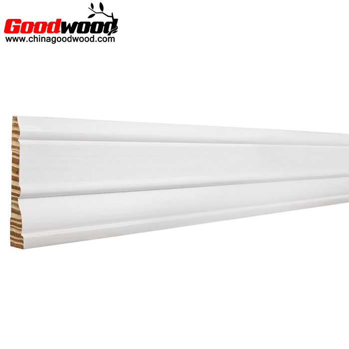 White Primed Baseboard Finger Joint Pine Mouldings