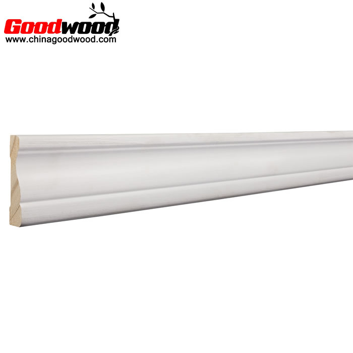 White Primed Colonial Wood Crown Moulding