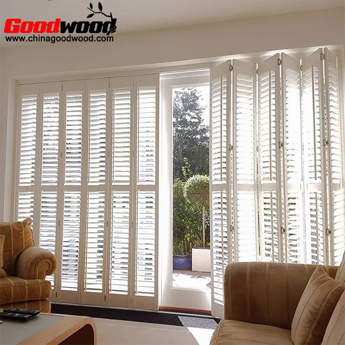 bifold plantation shutters for sliding glass doors
