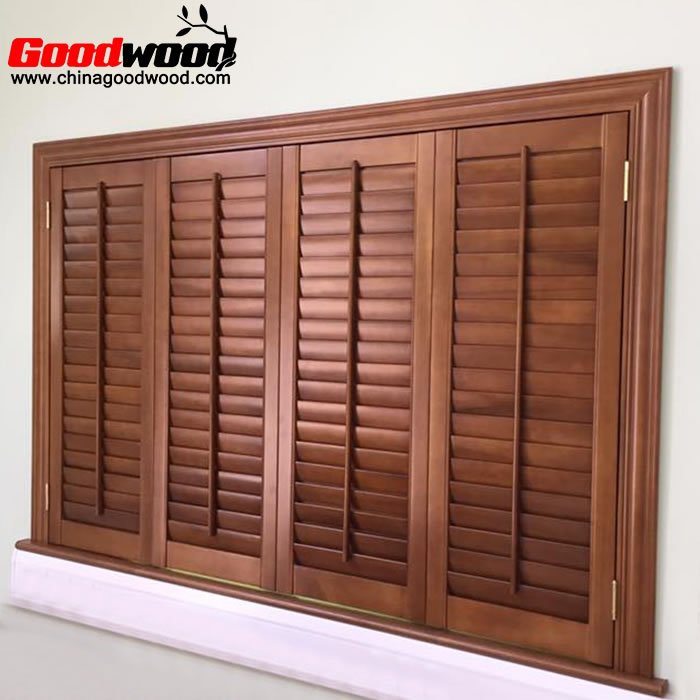 vinyl shutters that look like stained wood plantation shutters