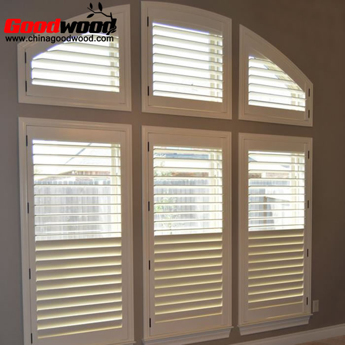 interior arched window shutters