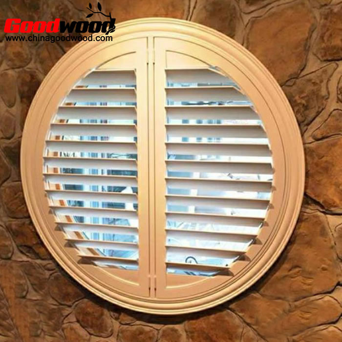 round half moon window shutters