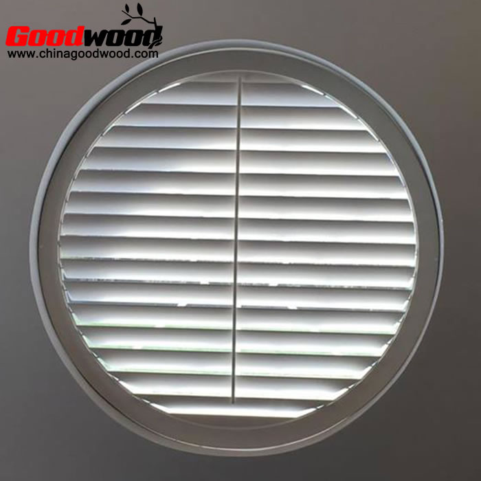 round window plantation shutters