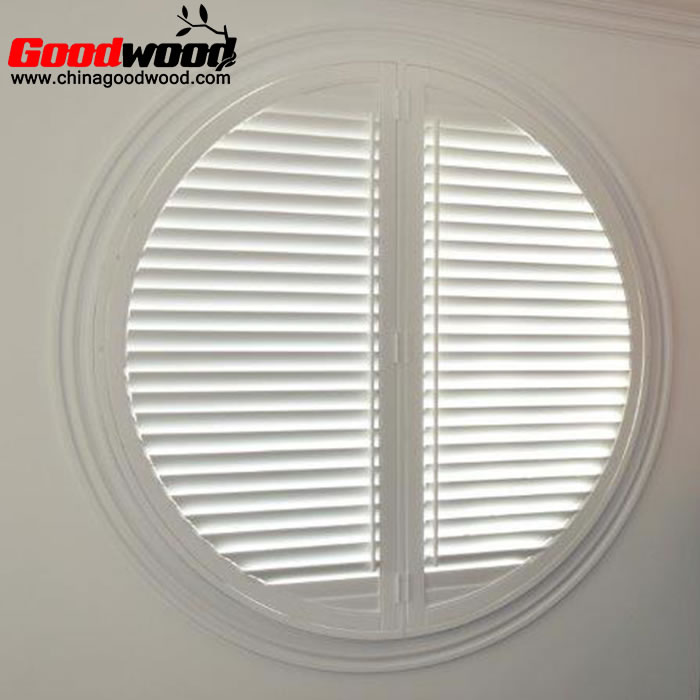 round window shutters swing door
