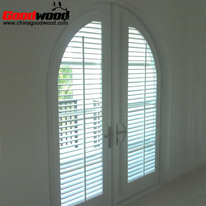 Arched swing shutters