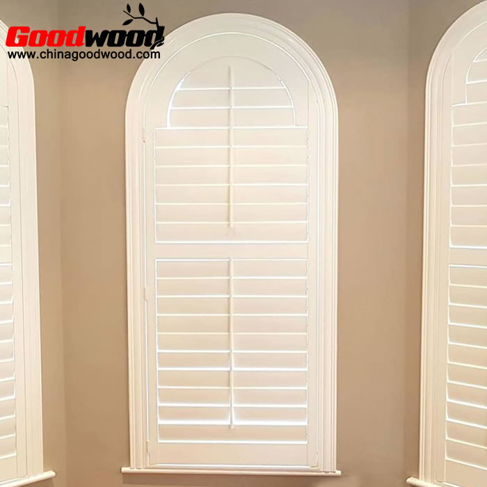 arched plantation shutters, arch top shutters