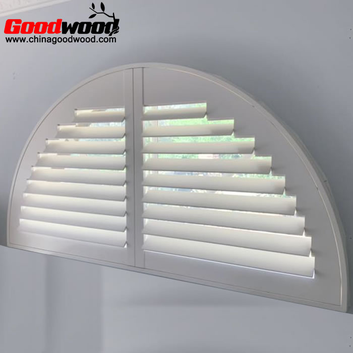 semi circle window shutters
