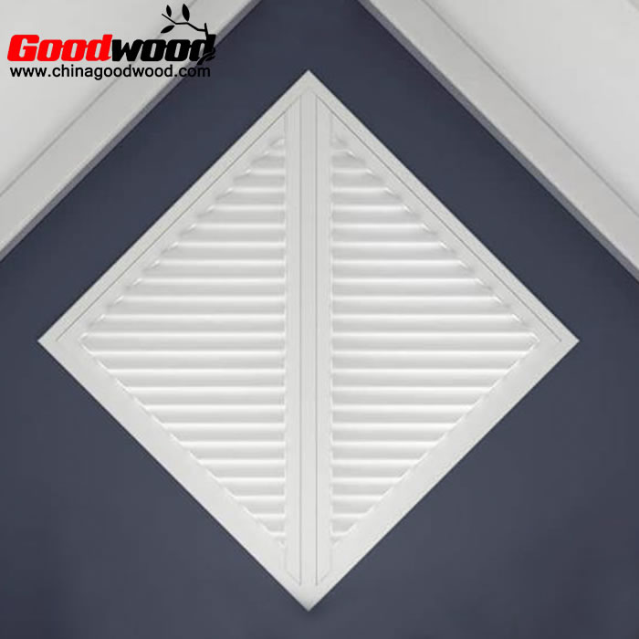 plantation shutters on triangle window