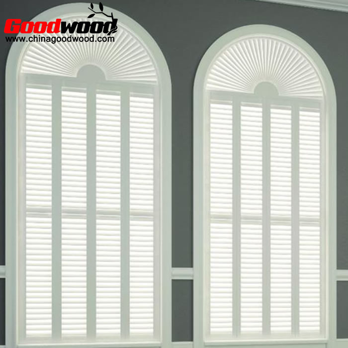 interior shutters for arched windows