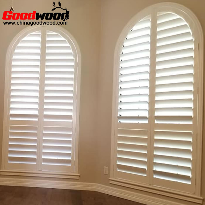 arch window shutters interior