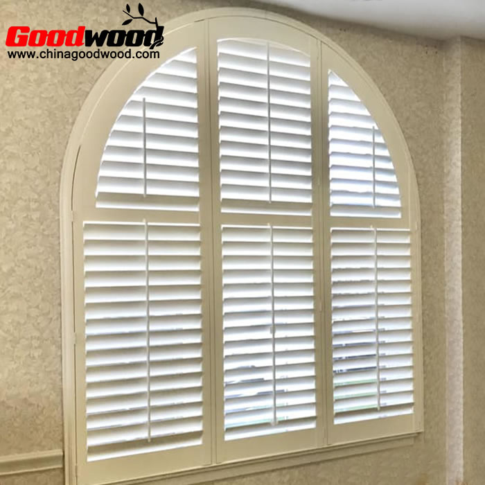 arched window shutters interior