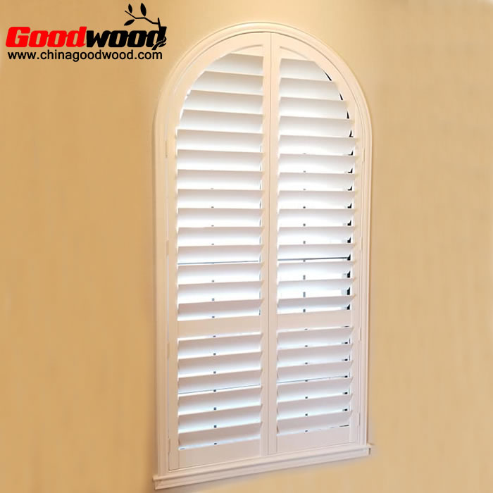 interior plantation shutters arched windows